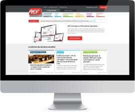 Présentation Home Page AEF